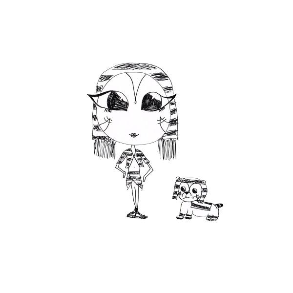 Nefertiti & Lil' Tut